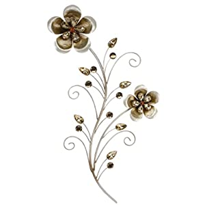 wall art metal wall art silver gold jewel flower bunch kitchen home. Black Bedroom Furniture Sets. Home Design Ideas