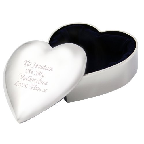 Personalized Engraved Heart Trinket Box - Bridesmaid gift - FREE ENGRAVING