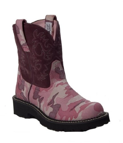 Ariat Fatbaby Boots Womens Western Cowboy Boots 5.5 Pink Camouflage - 14958