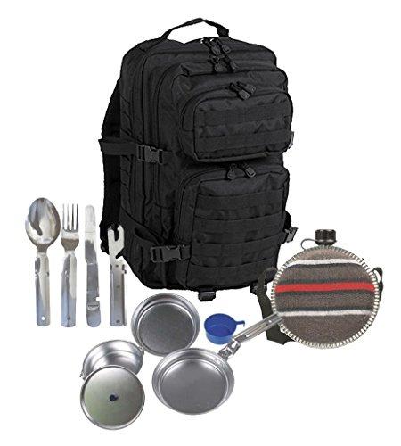 set-survival-set-i-g8dsr-us-assault-pack-schwarz-oder-blau-rucksack-ca-50-liter-bw-besteck-camping-b