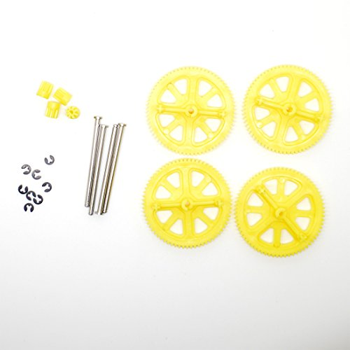 Parrot AR Drone 2.0 & Power Edition Replacement Motor Gears and Shaft / Repair Parts Kit / Upgrade Gears (Yellow)