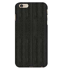 Black Wood Background 3D Hard Polycarbonate Designer Back Case Cover for Apple iPhone 6 Plus