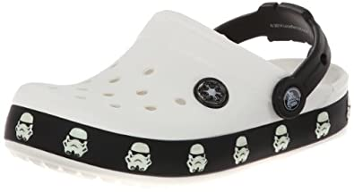 Crocs CB Star Wars Storm Trooper Clog, White/Black, Relaxed Fit, Children 10-11