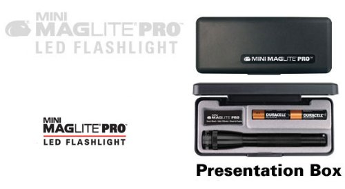 Maglite Mini Mag Led Pro, 2-Cell Aa, Black, Presentation Box Spsp017