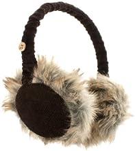 KitSound Audio Ohrenschützer Ohrenwärmer Cord mit flauschigem Fell, Integrierten Kopfhörern und 3,5 Audiokabel für iPod, iPhone, iPad, Smartphone, Tablet und MP3 Player - Dunkelbraun
