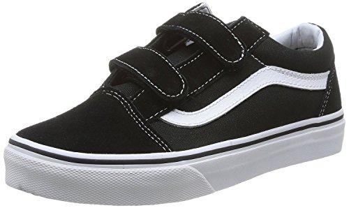 Vans Kids Old Skool V Skate Shoe (12.5 M US Little Kid, BLK/True White) (Kids Vans Shoes compare prices)
