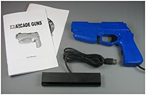 Starter Arcade Guns PC Light Gun Kit (Blue) - [Black Buttons/Trigger] from Harbo Entertainment LLC