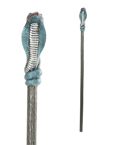 Blue & Silver Cobra Staff