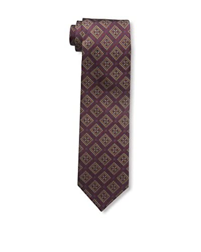 Bruno Piattelli Men's Triangle Medallion Tie, Burgundy