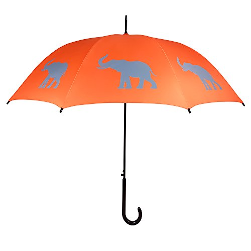 San Francisco Umbrella Co, Orange/Gray Elephant Umbrella (Umbrella Company compare prices)