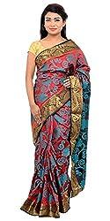 Monash Creations Kolkatta Kanjeevaram Multi Color Saree For Women