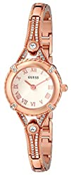 GUESS Womens U0135L3 8220Petite Embellished Crystal Rose