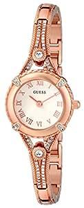 "GUESS Women's U0135L3 ""Petite Embellished Crystal"" Rose Gold-Tone Watch"