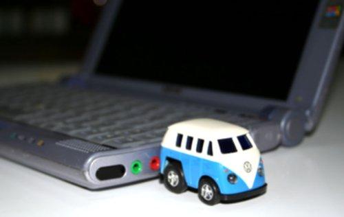 MOTOR USB DRIVE フォルクスワーゲン キャンパークラシカルバス フラッシュドライブメモリー 青Volkswagen classical music bus Blue 1GB 付属延長コード