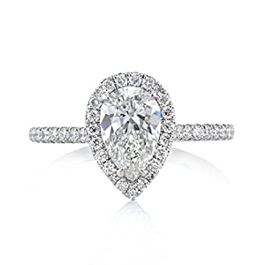 Mark Broumand 1.46ct Pear Shaped Diamond Engagement Ring