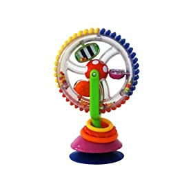 (好玩)小宝宝吸盘玩具 Sassy Developmental Wonder Wheel Suction Toy $7