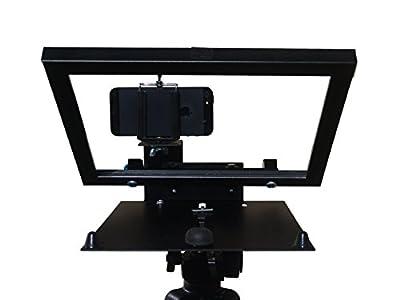 iPad iPad2 iPad3 iPad4 iPad Mini Teleprompter R812-1.1 with Beam Splitter Glass + iPhone Camera Bracket