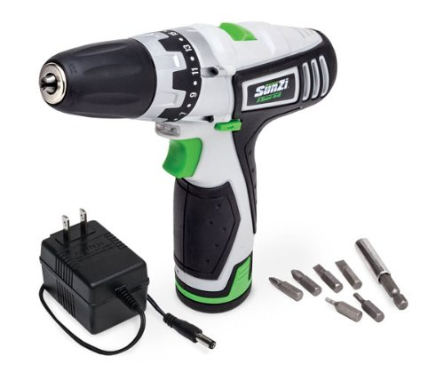 SunZi Cordless Rechargeable Li Ion Battery Operated 3/8 Drill Driver
