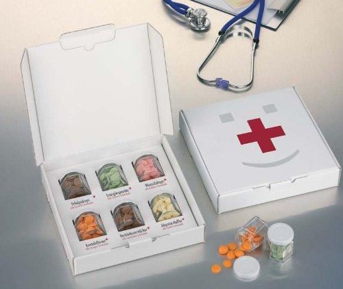 Geburtstag geschenke erste hilfe box schokobons schokodrops - Lustige geschenke zum polterabend ...