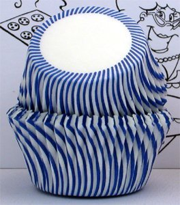 Golda's Kitchen Baking Cups - Stripe - Blue