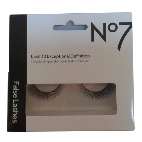Boots No7 False Lashes With Hypo-allergenic Lash Adhesive - False Eyelashes - False Eye Lashes (Lash 30 Exceptional Definition) by Eye Lashes
