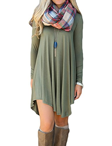 poseshe-womens-long-sleeve-v-neck-casual-loose-fit-t-shirt-dress-army-green-m