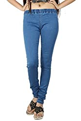Stretchable Silky Denim Women's Jeggings From Logus-32