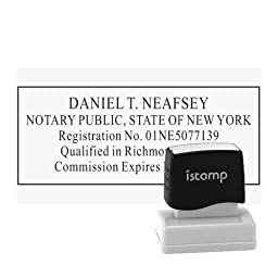 New York - Notary Stamp - Pre-Inked Stamp