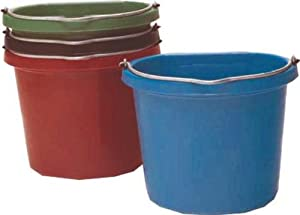 Fortiflex Flat Back Feed Bucket for Dogs/Cats and Small Animals, 20-Quart, Teal Blue