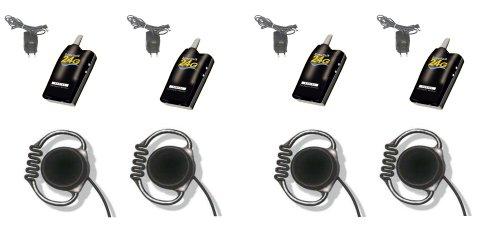 Simultalk 24G Wireless System - Streamline Restaurant Communication - Four Loop Headsets