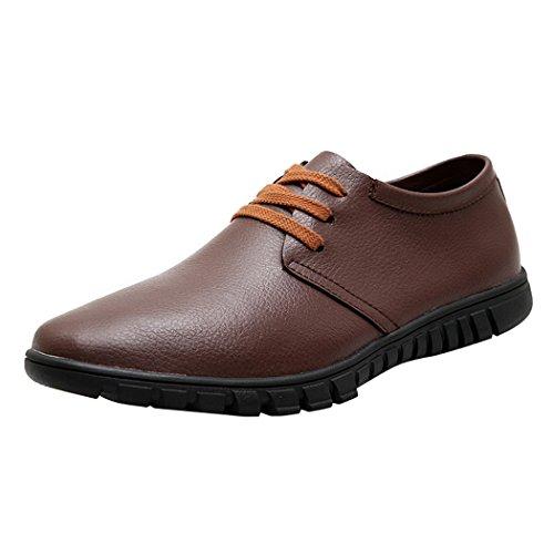 WALK-LEADER, Scarpe stringate uomo, marrone (Brown), 43