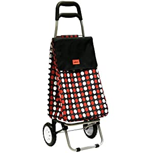 Sabichi Red Spot Lightweight Shopping Trolley