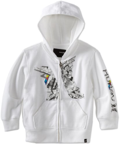 Hurley Little Boys' Build A Cabin Hoody, White, 5 front-919590