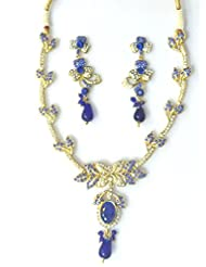 RCJ Gold Brass Necklace Set For Women - B00XN84KFM