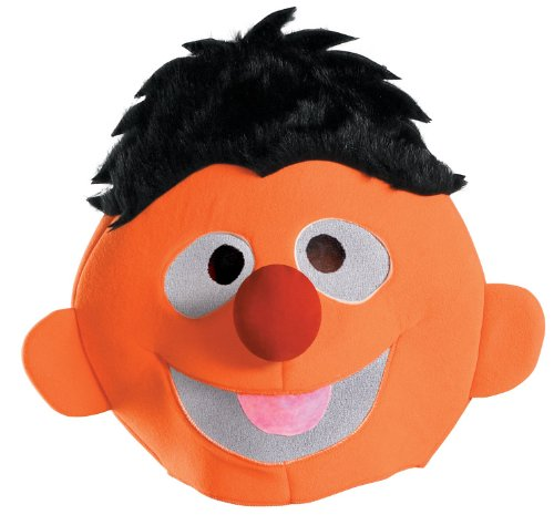 Lets Party By Disguise Inc Sesame Street Ernie Adult Headpiece / Orange - One Size