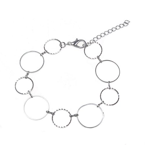 BestDealUSA Fashion 925 Big And Small Round Silver Beautiful Bracelets Rouds Shape