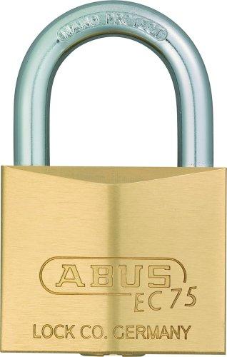 ABUS 真鍮南京錠 EC75-30 ディンプルシリンダー バラ番