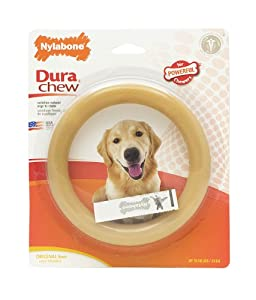 Nylabone Dura Chew Ring Dog Chew Toy, Original Flavor, Giant