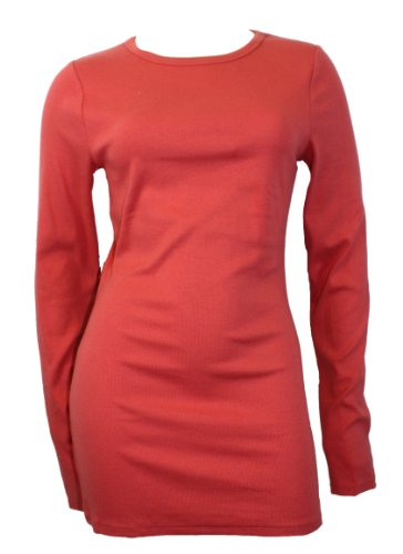 Kersh Essentials Long Sleeve Sweater Coral XL
