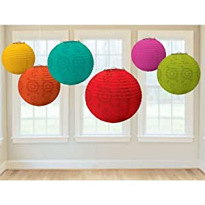 Official Costumes Fiesta Paper Lantern Value Pack Party Accessory