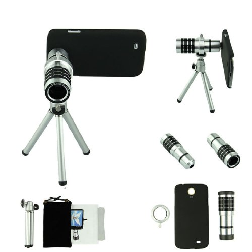 Voberry 12X Telephoto Focus Telescope Phone Camera Lens For Apple Iphone 4 4S With Telescopic Tripod + Manual + Case Cover + Drawstring Bag + Cleaning Cloth