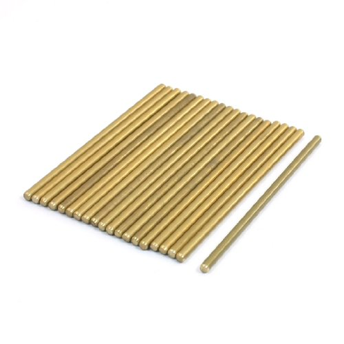 RC Helicopter 50mm x 2mm Brass Ground Shaft Round Rod 20Pcs