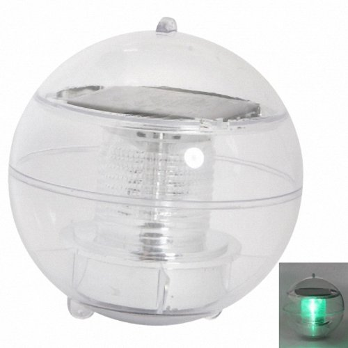 New Solar Power Floating LED Light Green Light For Garden Pond Christmas