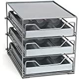 Lipper International 3 Tier Tilt Down Spice Drawer, Silver/Gray