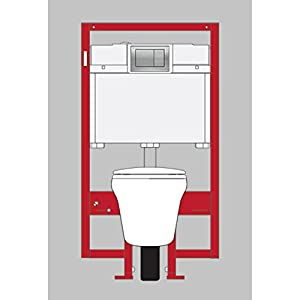 Toto CWT486MFG-2#011.6-GPF/0.9-GPF Maris Wall-Hung Toilet and In-Wall Tank System