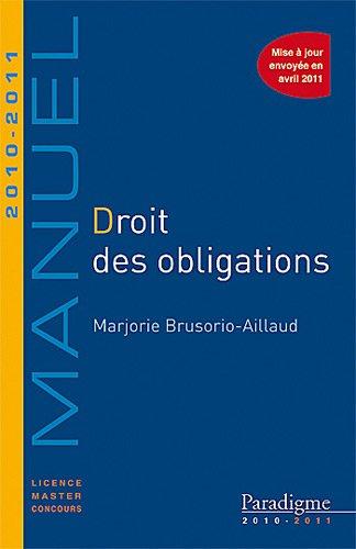 Droit des obligations 2010-2011