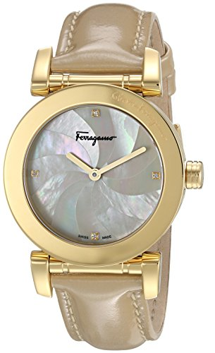 Salvatore-Ferragamo-Womens-LADY-Quartz-Stainless-Steel-and-Leather-Casual-Watch-ColorBeige-Model-FP1760016