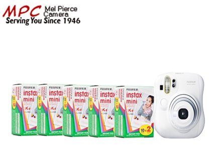 Fuji Instax Mini 25 Plus Case and 5 Twin Packs of Instax Film (100 Images)