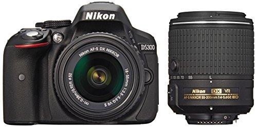 Nikon デジタル一眼レフカメラ D5300 ダブルズームキット2 ブラッ...