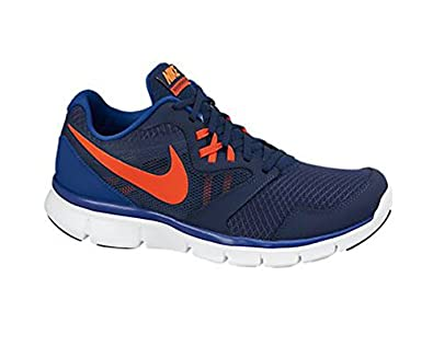 Men's Nike Flex Experience 3 Running Shoe Blue/Orange/White Size 8.5 M US